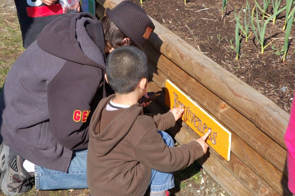 Naming the school garden
