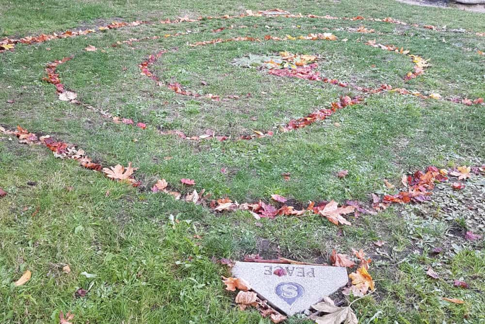 School garden labyrinth