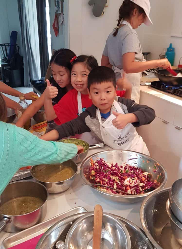 Fun at cooking camp