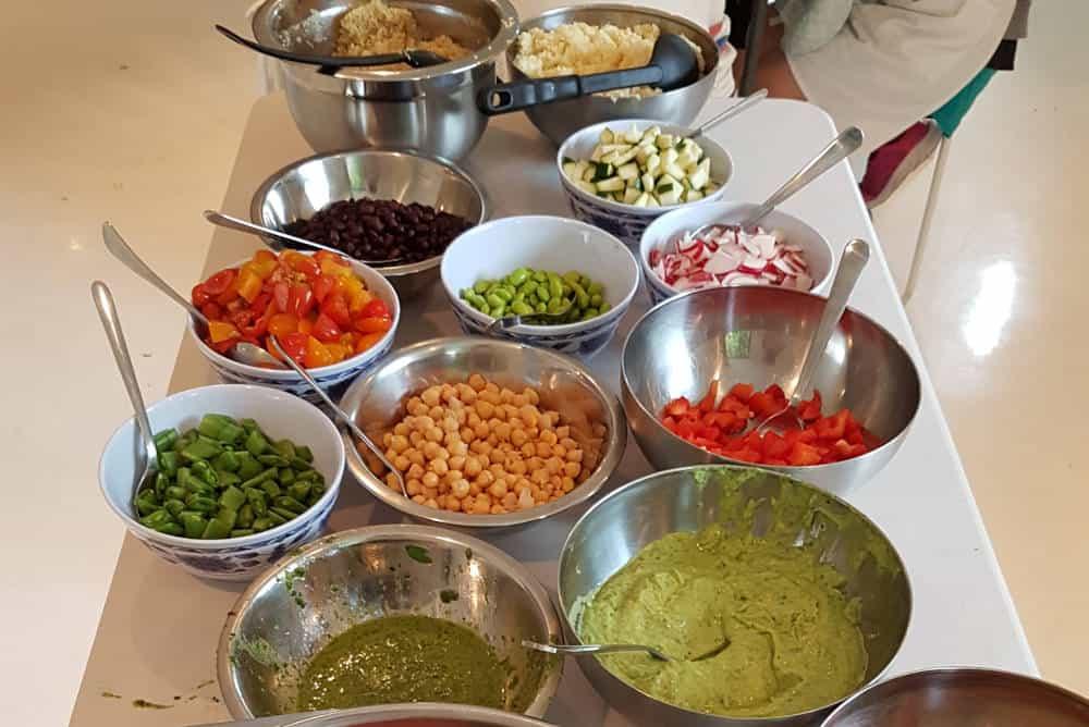 Helathy dishes school camp