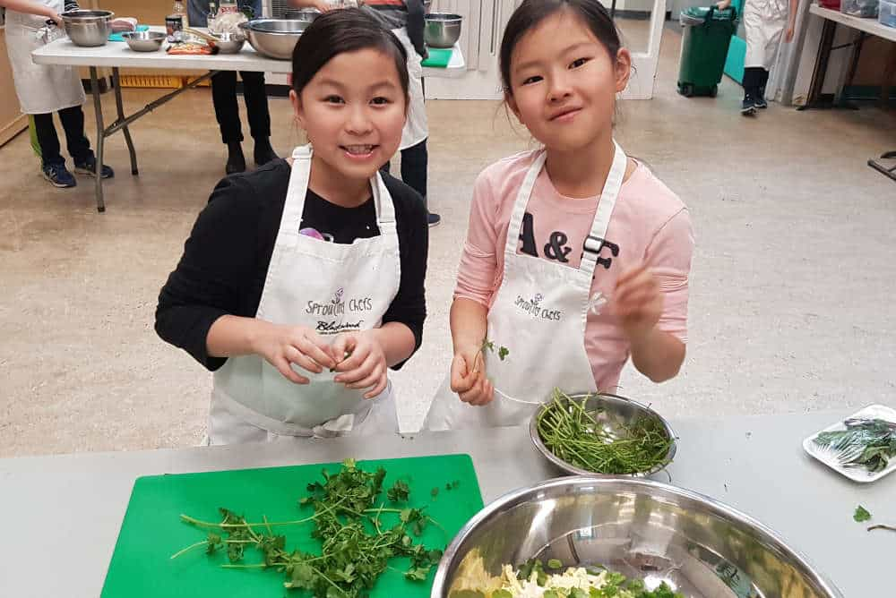 Proud to join cooking classes