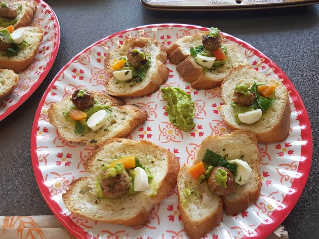 Bread with healthy veggies